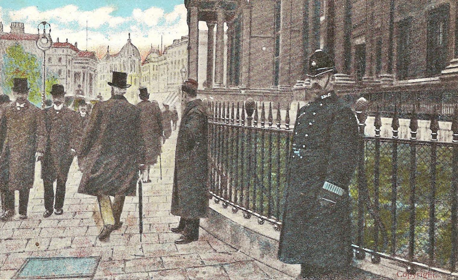 Londons Polizei am Trafalgar Square 1909
