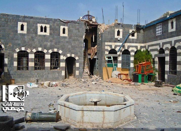 Zerstörtes Stadtviertel in Homs
