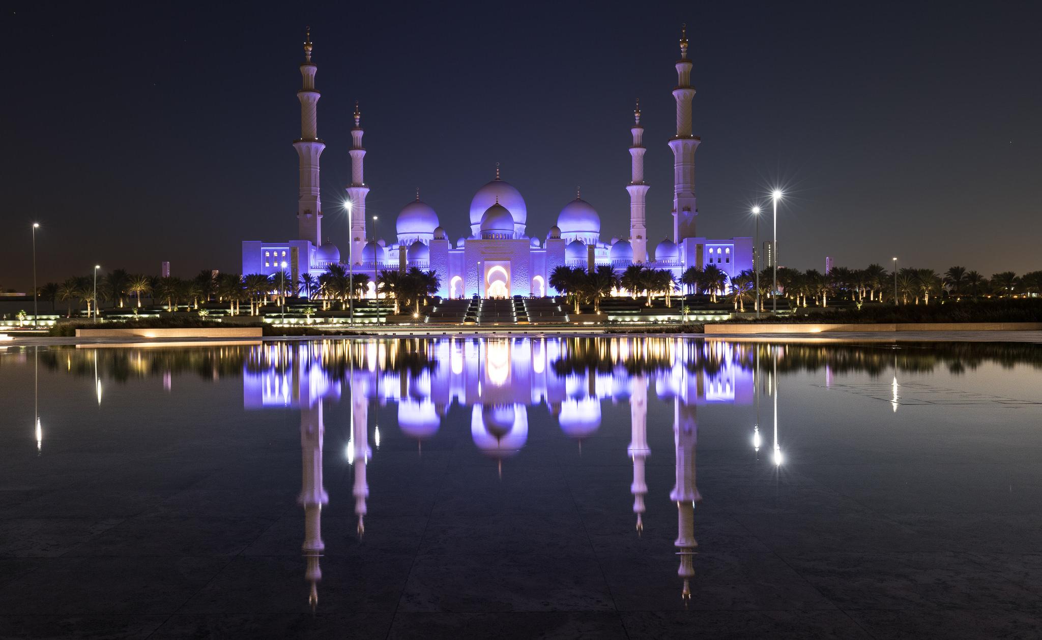 Mosche von Abu Dhabi, neben Dubai eines von sieben Emiraten