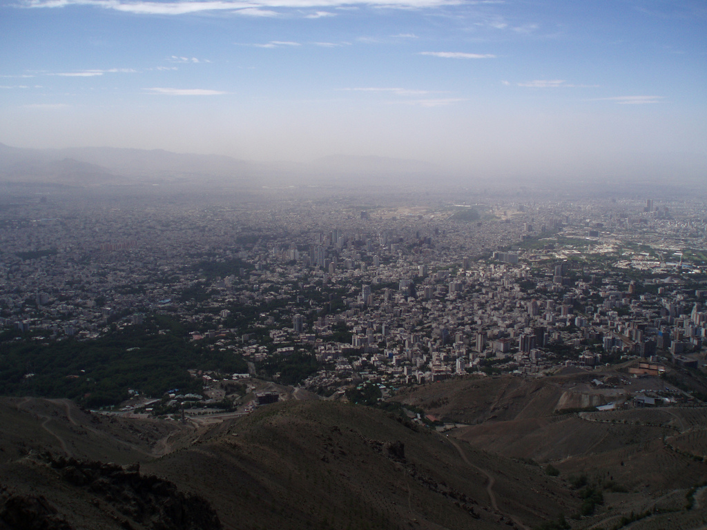 Blick auf die Hauptstadt des Iran, Teheran. (Foto: Stefan Binder (c))