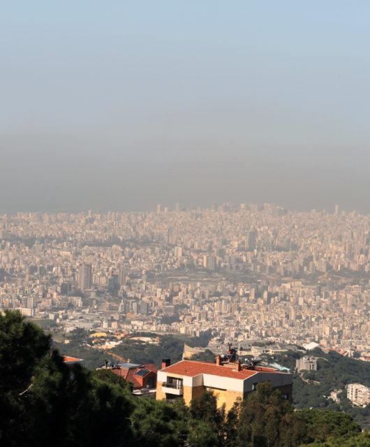 Smog über Beirut