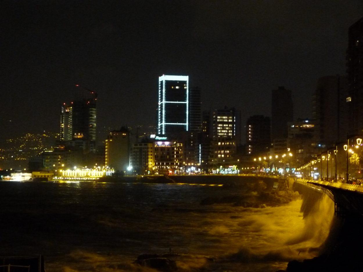 Blick über Beirut im Libanon