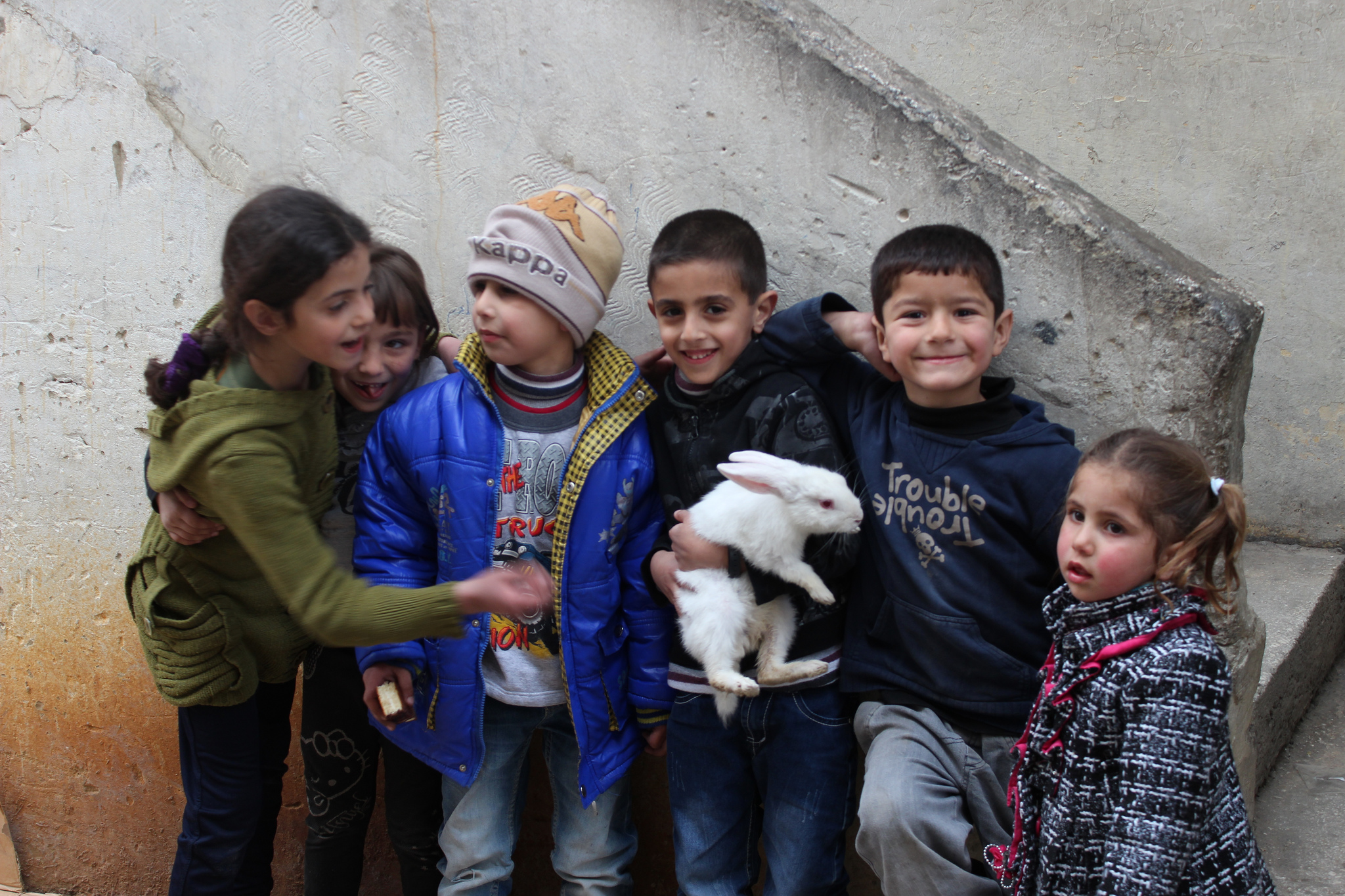 Flüchtlinge im Libanon: Palästinensische Flüchtlingskinder im Wavel-Camp im Libanon