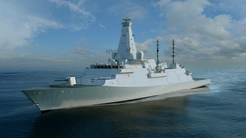 Computeranimation der Typ-26-Fregatte, die künftig in der Royal Navy fahren soll