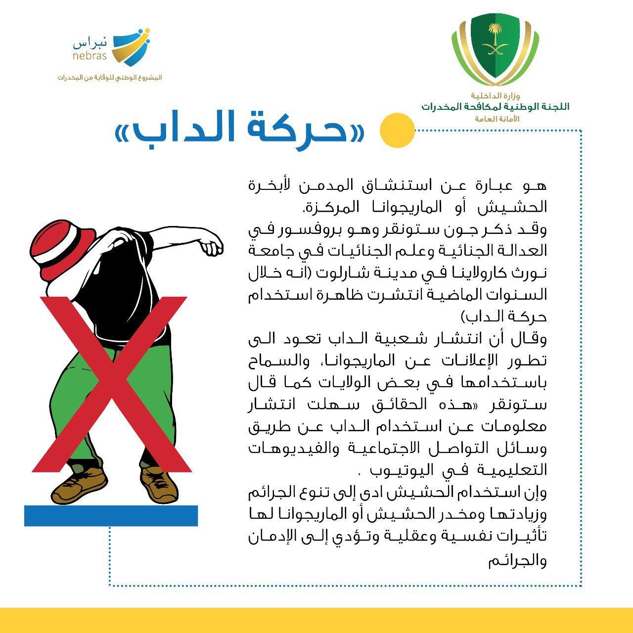 Poster des saudischen Innenministeriums gegen Dabbing