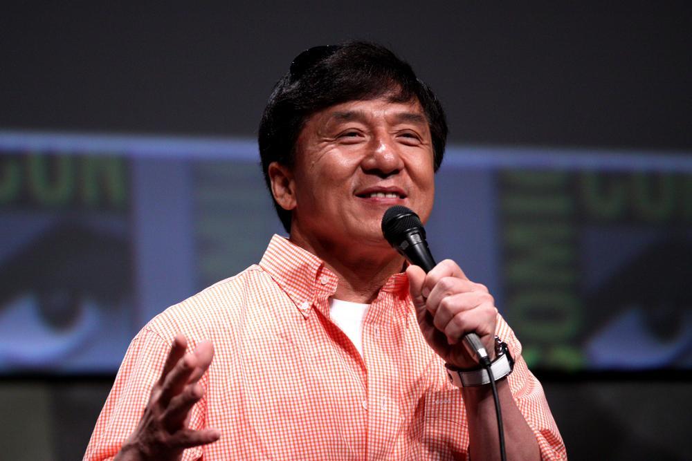 Jackie Chan bei einem Auftritt