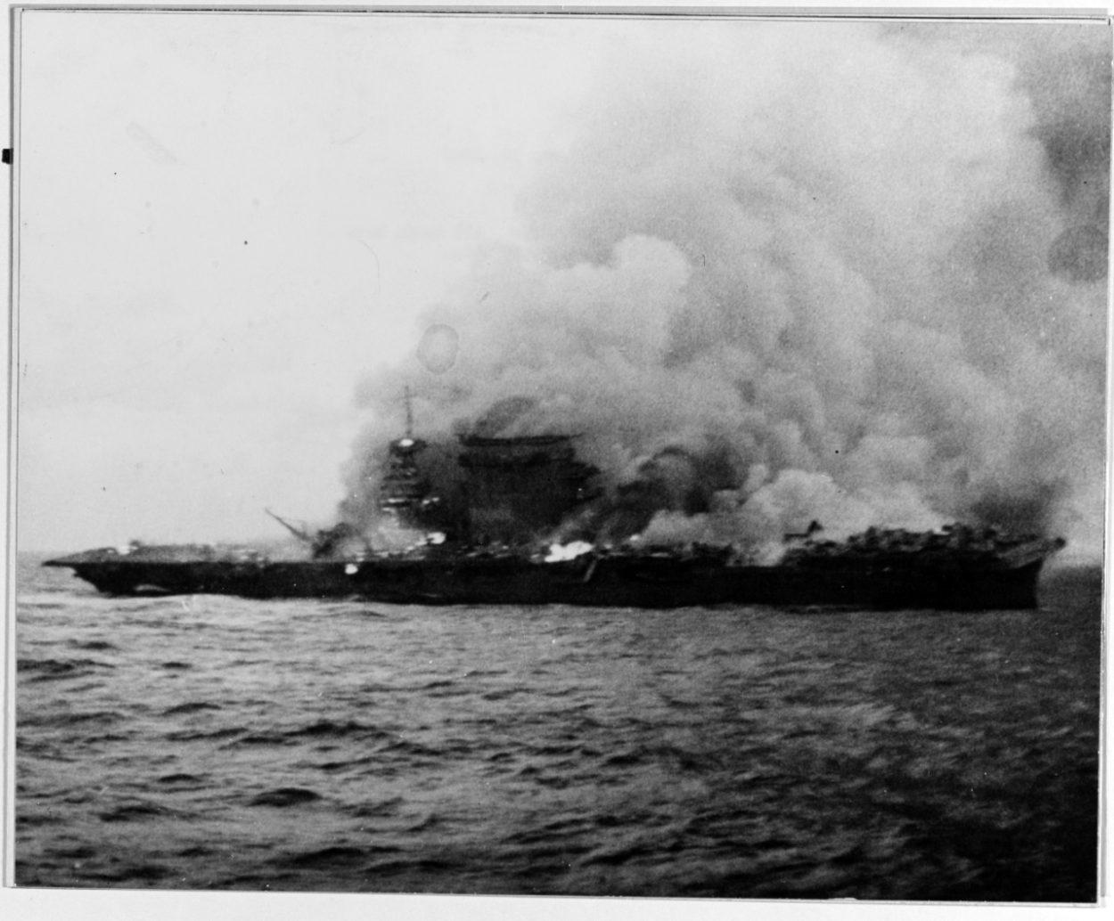 Der Flugzeugträger USS Lexington