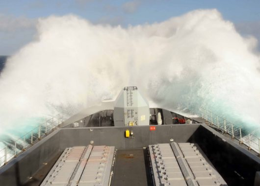 Die HMS Dauntless der Royal Navy